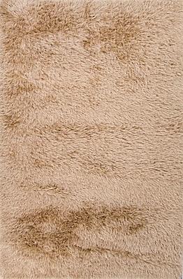 Jaipur Solid Pattern Rug 100% Polyester 3' x 2', Light sand & Dark Ivory