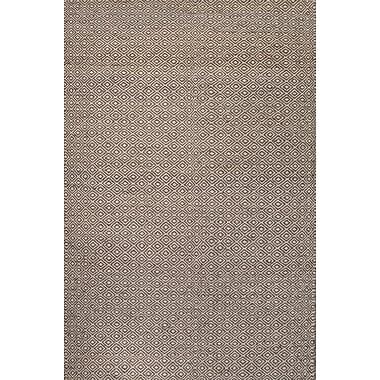 Jaipur Naturals Tone-on-Tone Pattern Area Rug Wool & Hemp 4' x 6', White & Medium Gray