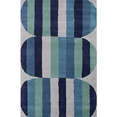 Jaipur En Casa Blue & Green Geometric Area Rug Wool, 8' x 11'