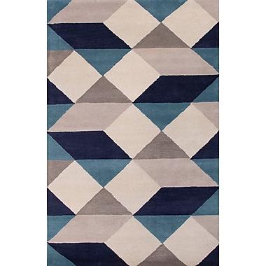 Jaipur Hand-Tufted Geometric Pattern Rectangle Rug 100% Wool, 2' x 3'