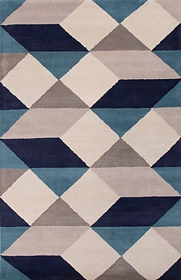 Jaipur Hand-Tufted Geometric Pattern Rectangle Rug 100% Wool, 8' x 11'