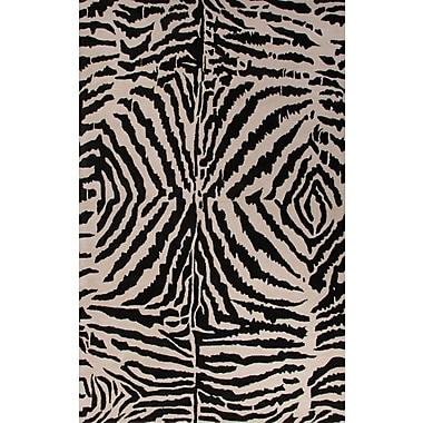 Jaipur Zebra Ikat Area Rug Wool 8' x 11'