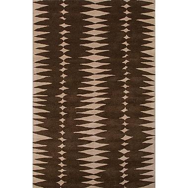 Jaipur Geometric Area Rug Wool 8' x 11', Java & Linen
