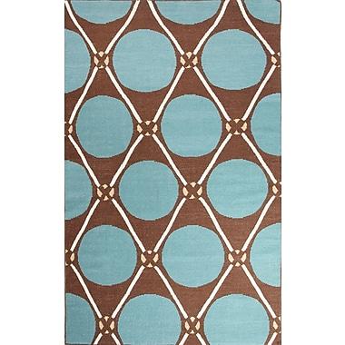Jaipur Flat-Weave Geometric Pattern Area Rug Wool 2' x 3'