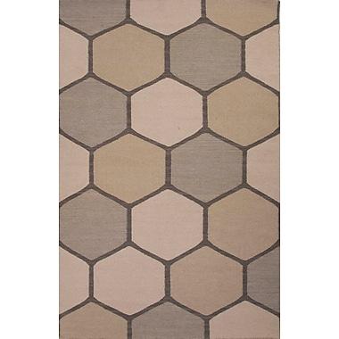 Jaipur En Casa Gray Area Rug Wool, 5' x 8'