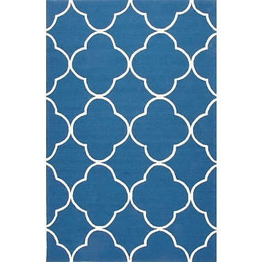 Jaipur Hand Made Area Rug Polypropylene 7.6' x 9.6', Blue & White