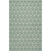Jaipur Geometric Pattern Area Rugs Polypropylene 2' x 3', Blue & White
