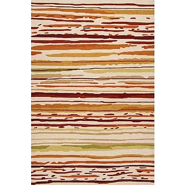 Jaipur Sketchy Lines Area Rug Polypropylene, 3.6' x 5.6'
