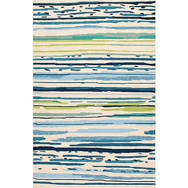 Jaipur Sketchy Lines Rectangle Area Rug, 7.6' x 9.6'
