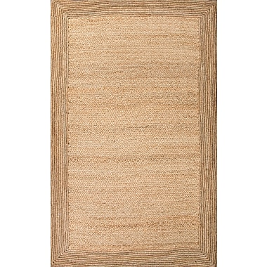 Jaipur Naturals Textured Rectangle Area Rug Jute, 9' x 12'
