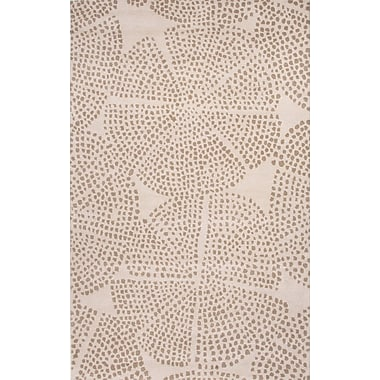 Jaipur Hand-Tufted Area Rug Wool, 2' x 3' White & Silver Gray