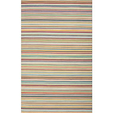 Jaipur Blue Stripe Area Rug Wool, 5' x 8'