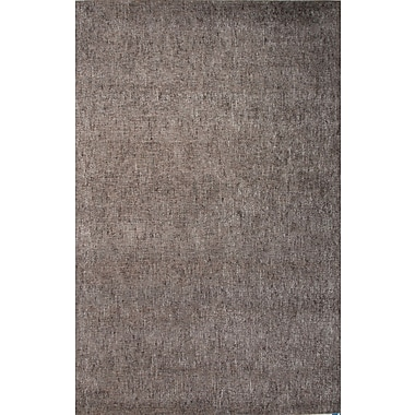 Jaipur Area Rug Wool & Art Silk 5' x 8', Sage Gray & Warm Taupe