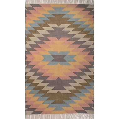 Jaipur Tribal Pattern Area Rug Polyester, 5' x 8'
