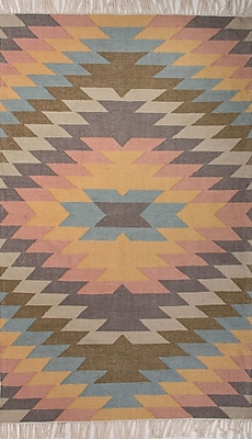 Jaipur Tribal Pattern Area Rug Polyester, 8' x 5'
