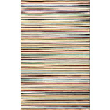 Jaipur Blue Stripe Area Rug Wool, 2' x 3'