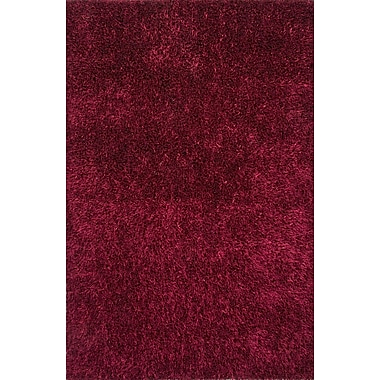 Jaipur Solid Pattern Rectangle Shag Area Rug Polyester, 5' x 7.6'