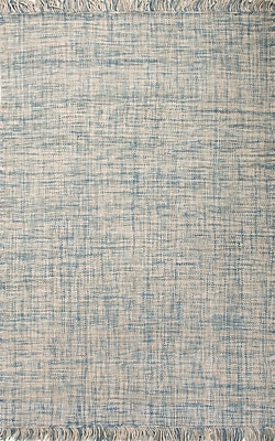 Jaipur Flat-Weave Solid Pattern Area Rug Wool 2' x 3', Dream Blue & Forever Blue