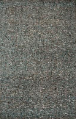 Jaipur Area Rug Wool & Art Silk 10' x 8', Dark Taupe & Tahitian Blue