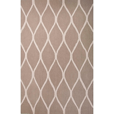 Jaipur Hand-Tufted Geometric Patter Area Rug 100% Wool, 4' x 6'