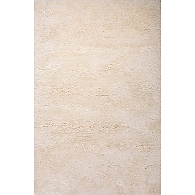 Jaipur Angel Shag Solid Pattern Area Rug Polyester, 2' x 3'