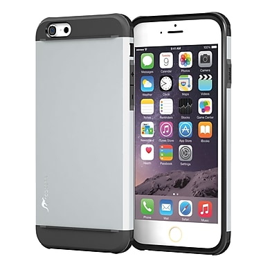 rooCASE iPhone 6 Plus RC-IPH6-5.5-ET-SI Slim Fit Armor Hybrid PC TPU Case, Ghost Silver