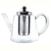 Tao Tea Leaf Glass Tea Pot with Stainless Steel Infuser, 800ML, Tall