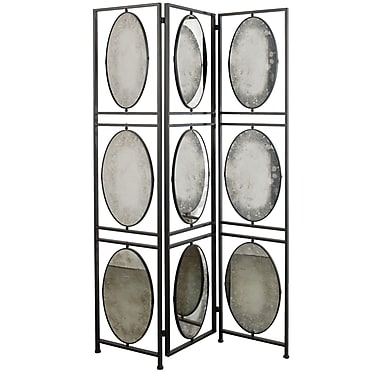 A&B Home 75'' x 47.52'' 3 Panel Room Divider