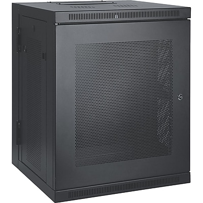 Tripp Lite SmartRack 15U Wall-Mount Rack Enclosure Cabinet, Black
