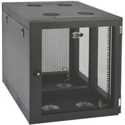 Tripp Lite SmartRack 12U Heavy-Duty Wall-Mount Rack Enclosure Cabinet, Black