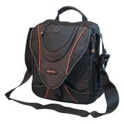 Mobile Edge Mini Messenger Bag For Notebook/iPads, Black/Orange