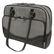 "Mobile Edge Classic Herringbone Totes For 13.3"" Notebook, Black/White"
