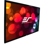 Elite Screens® SableFrame ER120WH1 Wall-Mount Fixed Frame Projection Screen, 120""