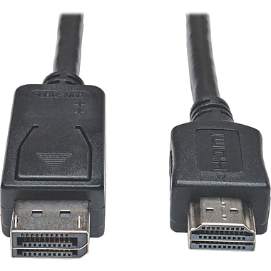 Tripp Lite 10' DisplayPort Male/HDMI Male Cable Adapter, Black