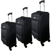 McBrine Eco-Friendly Super Light Weight Expandable 3-Piece Soft Sided Luggage Sets on Swivel Wheels