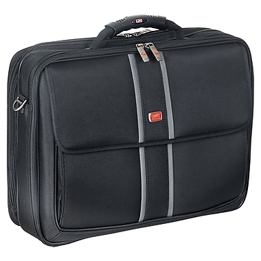 "Mancini Laptop/Tablet Briefcase with RFID Secure Pocket, 17""x 5.5""x 13"