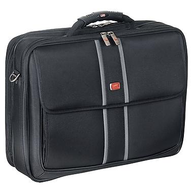 Mancini - Mallette pour portatiftTablette avec pochette RFID sécurisée, 17 x 5,5 x 13 po, noir
