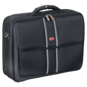 """Mancini Laptop/Tablet Briefcase with RFID Secure Pocket, 17""""x 5.5""""x 13"""", Black"""
