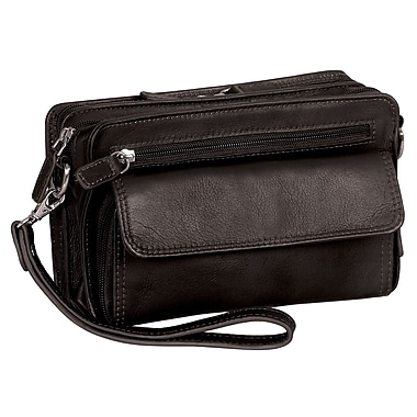 "Mancini Deluxe Unisex Bags with RFID Secure Pocket, 9""x 2.25""x 5.5"