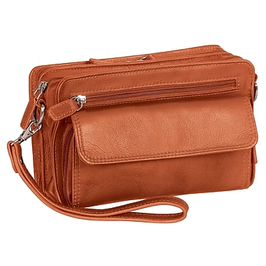 "Mancini Deluxe Unisex Bag with RFID Secure Pocket, 9""x 2.25""x 5.5"