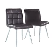 Monarch Leather-Look/Chrome Metal Dining Chairs