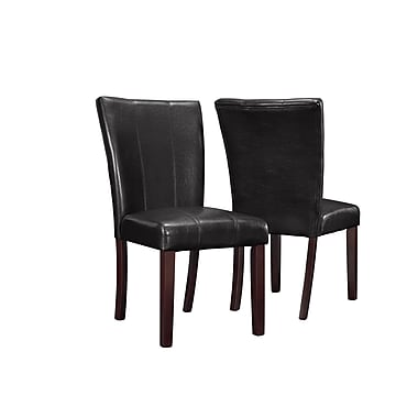Monarch Leather-Look Parson Chairs 38