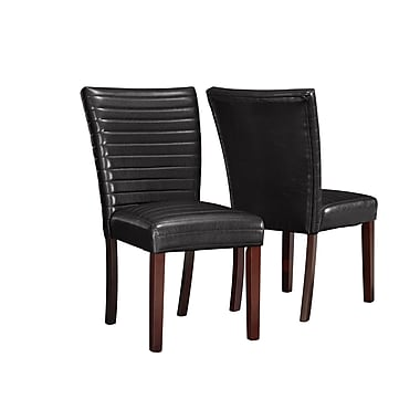 Monarch Leather-Look Parson Chairs, 38