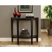 Monarch – Table console d'entrée / d'appoint, 36 po long., cappuccino