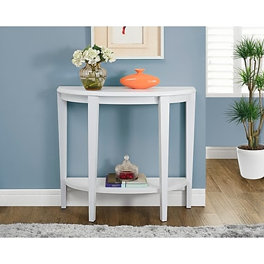 Monarch – Table console d'appoint moderne, 36 po long., blanc
