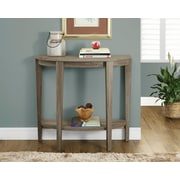 "Monarch Reclaimed-Look Console Side/Accent Table, 36""L, Dark Taupe"