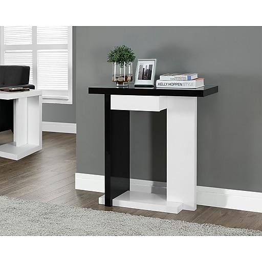 Monarch Specialties Medium Density Fiberboard Accent Table, Black, Each (I 2457)