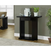 Monarch – Table console d'appoint, 32 po long., cappuccino