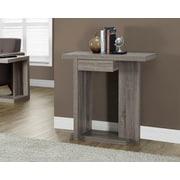 Monarch – Table console d'appoint, style vieilli, 32 po long., taupe foncé