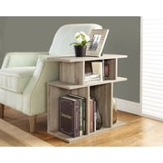 "Monarch Reclaimed-Look Accent Side Table, 24""H, Dark Taupe"